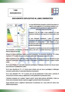 Documento esplicativo label energetico